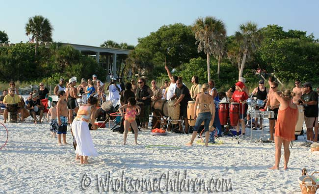 Siesta Key Drum Circle - park your car and follow your ears!!!